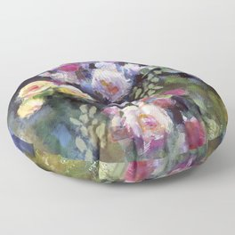 Climbing Roses Floor Pillow