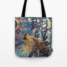 THE WOLF HOWLED AT THE STAR FILLED NIGHT Tote Bag