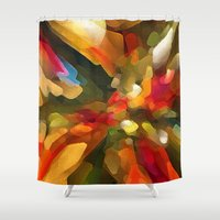 christmas tree Shower Curtains featuring Christmas Tree by Paul Kimble