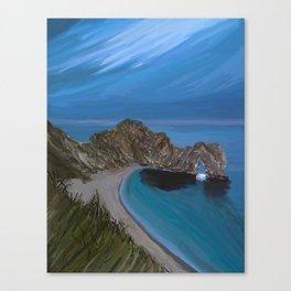 Evening Landscape of the Durdle Door, UK Canvas Print