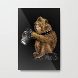 monkey photographer Metal Print
