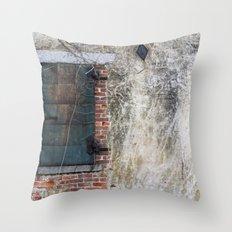 Dark Window Throw Pillow