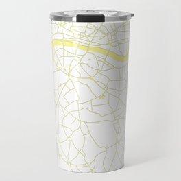 London White on Yellow Street Map Travel Mug