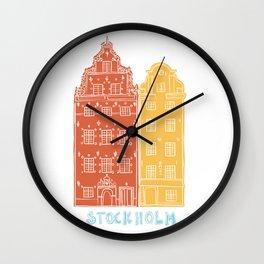 Stockholm old town - Gamla Stan facades Wall Clock