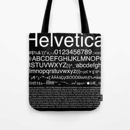 Helvetica (White) Tote Bag