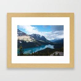 Peyto Lake, Banff National Park Framed Art Print