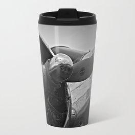 Black and White vintage airplane Travel Mug