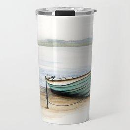 Rowboat, beach, marine, seashore boat Travel Mug
