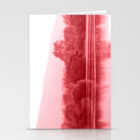 Raspberry Riverbank Stationery Cards