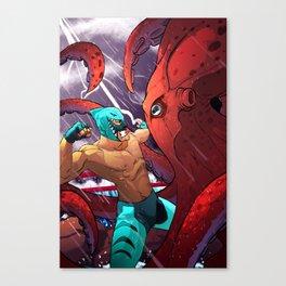El Tiburon vs El Pulpo Canvas Print