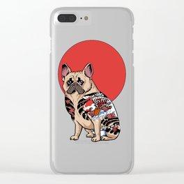 French Bulldog Yakuza Clear iPhone Case