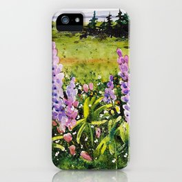 Lupines of Nova Scotia iPhone Case