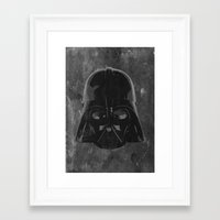 darth vader Framed Art Prints featuring Darth Vader by Some_Designs