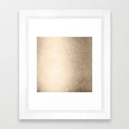 White Gold Sands Framed Art Print