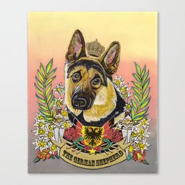 The German Shepherd Canvas Print
