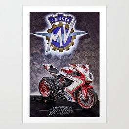 MV AGUSTA F3 800 RC Art Print