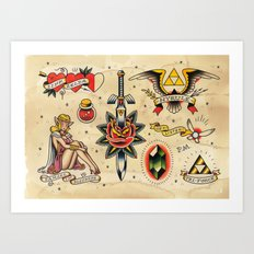 The Legend of Zelda: An Ink to the Past Art Print