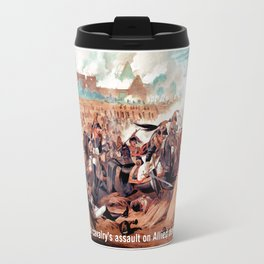 The French cavalry's assault on Allied defensive squares Travel Mug