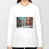 bar Long Sleeve T-shirts featuring bar: open by lizbee