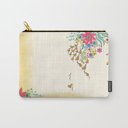 Vibrant Floral to Floral Carry-All Pouch