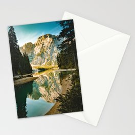 Lago di Braies, Braies, Italy Stationery Cards