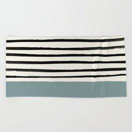 River Stone & Stripes Beach Towel