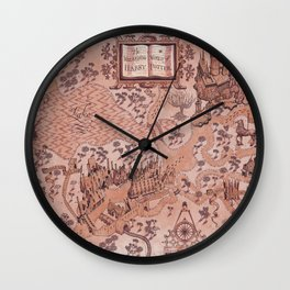 wizarding world of harrypotter map Wall Clock