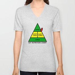 Elf Nutrition Chart Unisex V-Neck