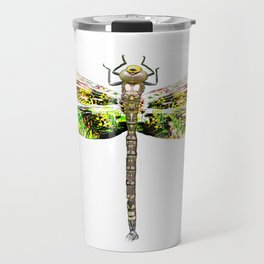 Dragonfly illustrated flying insect Travel Mug