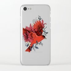 Blooming Bird Clear iPhone Case