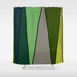 Green Abstract Pattern Turtle Shower Curtain
