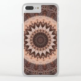 Mandala chocolate Clear iPhone Case