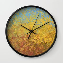 Speckled Gold Wall Clock