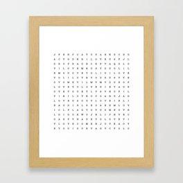 LOVE word search Framed Art Print