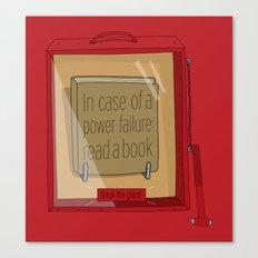 In case of a power failure: read a book Canvas Print