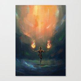 Firebender Canvas Print