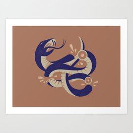 To HELL with the devil! Art Print