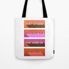 Sunset 80's Tote Bag