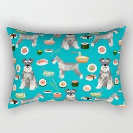 schnauzer sushi dog breed pet pattern dog mom Rectangular Pillow