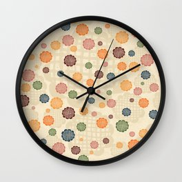 Scumbley Checkered Flowers Wall Clock