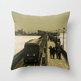 Southend Gold Throw Pillow