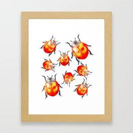 Goldn LadyBirds Framed Art Print