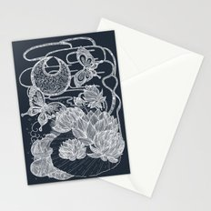 Lotus and Butterfly Stationery Cards