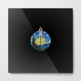 Starry Space Shuttle Metal Print