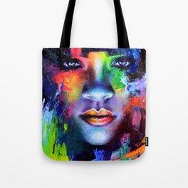 Rihanna Colors Tote Bag