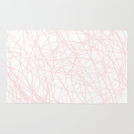 Pink line doodle single line Rug