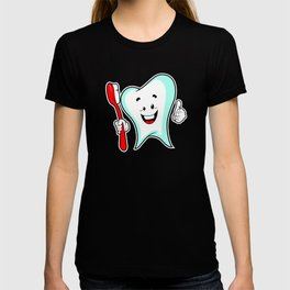 Dental Care happy Tooth with Toothbush T-shirt
