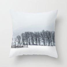 White winter II Throw Pillow
