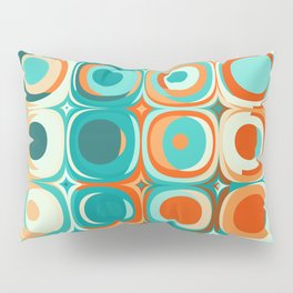 Orange and Turquoise Dots Pillow Sham