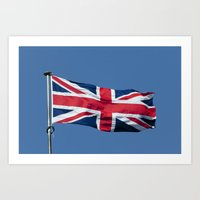 british flag Art Prints featuring Flying the British flag by PICSL8